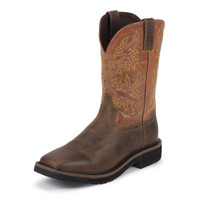 JUSTIN SWITCH/RUGGED TAN WORK BOOTS