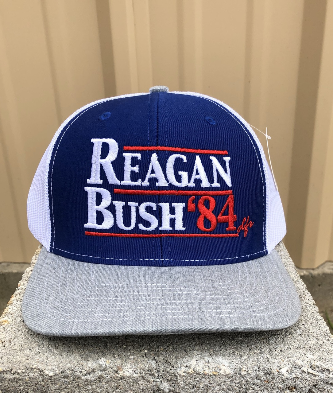 0afc0cfec3817 REAGAN BUSH  84 TRUCKER CAP - DENNARDS