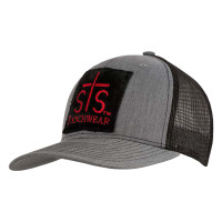 STS HEATHER GREY/BLACK PATCH CAP