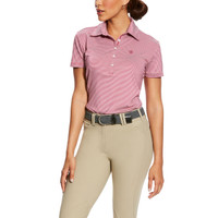 ARIAT TALENT POLO ROSE VIOLET STRIPE