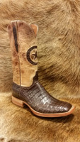 BLACK JACK CHOCOLATE CAIMAN BOOTS