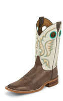 MEN'S JUSTIN BENT RAIL CHOCOLATE AMERICA BOOT