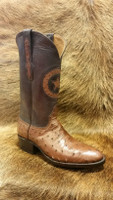 BLACK JACK FULL QUILL CIGAR OSTRICH BOOTS