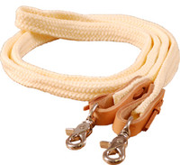 "FLAT BRAIDED POLY ROPING REIN 1"" x 8'"
