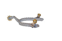 Ladies Stainless Steel Twisted Rope Spur