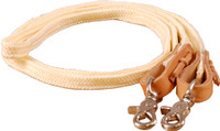 "FLAT BRAIDED POLY ROPING REIN 1/2"" x 8'"