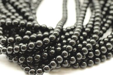 Onyx, Black, Natural, Smooth Round