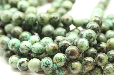 Jasper, African Turquoise, Dyed, Smooth Round