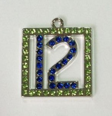 #12 Crystal Pendant 25x25mm