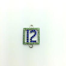 #12 Crystal Pendant 15x22mm with DOUBLE LOOPS