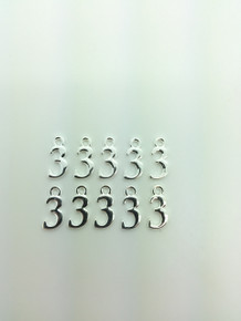 #3 Charm 8x16mm 10 pieces