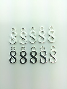 #8 Charm 9x16mm 10 pieces