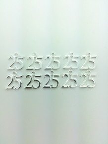 #25 Charm 13x16mm 10 pieces
