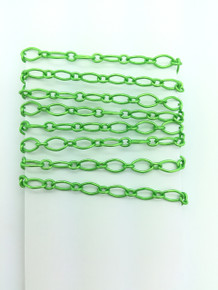 3 Feet of Lime Green 4X8mm Figaro Chain