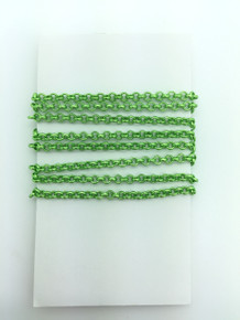 3 Feet of Lime Green 3mm Rolo Chain