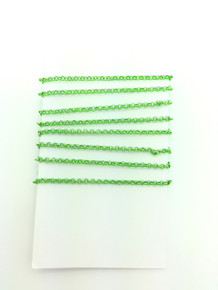 3 Feet of Lime Green 2mm Rolo Chain