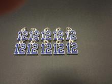 #12 Blue Enamel Charm 10 pieces