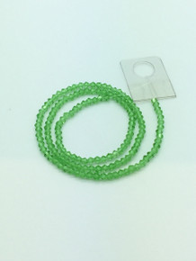 3mm Peridot Faceted Bicone