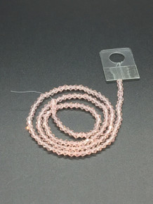 3mm Pinky Peach Faceted Bicone