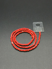 3mm Red Porcelain Faceted Bicone