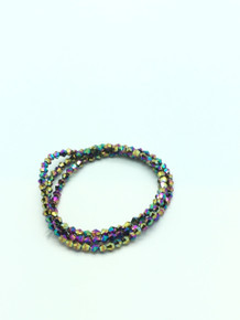3mm Rainbow Faceted Bicone