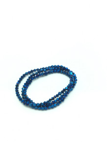 3mm Blue Flare Faceted Bicone