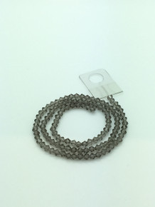 4mm Grey Faceted Bicone