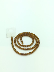 4mm Smoked Topaz Faceted Bicone