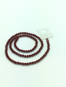 4mm Red Porcelain Faceted Bicone