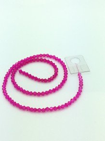 4mm Hot Pink Faceted Bicone
