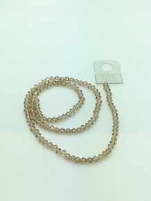 4mm Silver Champagne Faceted Bicone