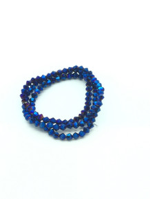 4mm Blue Flare Faceted Bicone
