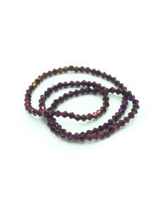 4mm Purple Flare Faceted Bicone