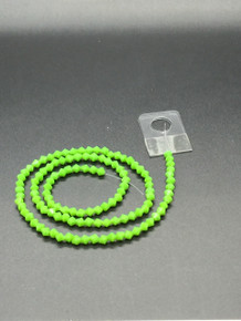 4mm Peridot Porcelain Faceted Bicone