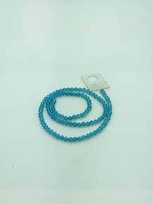 4mm Dark Aquamarine Faceted Bicone