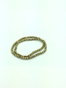 6mm Gold Faceted Round