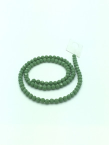 6mm Peridot Porcelain Faceted Round
