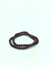 8mm Purple Flare Faceted Round