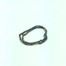 4x3mm Rainbow Faceted Rondelle