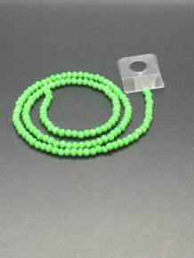 4x3mm Peridot Porcelain Faceted Rondelle