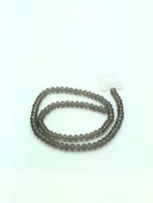 6x5mm Grey Faceted Rondelle
