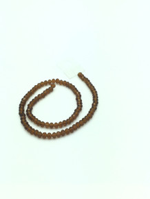 6x5mm Smoked Topaz Faceted Rondelle