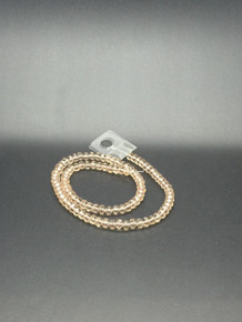 6x5mm Silver Champagne Faceted Rondelle
