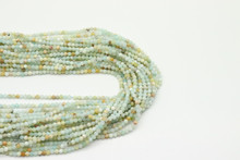 Amazonite, Rainbow 2mm Faceted Strand
