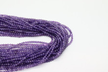 Amethyst 2mm Faceted Strand