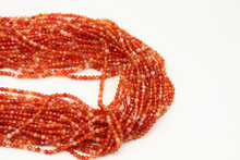 Carnelian - Heated 2mm Faceted Strand