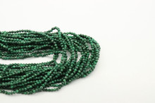Malachite 2mm Faceted Strand