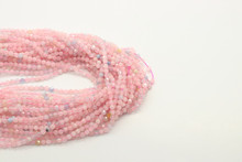Morganite 2mm Faceted Strand