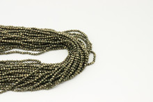 Pyrite 2mm Faceted Strand