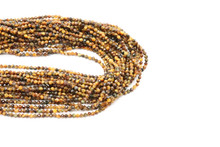 Tiger's Eye 2mm Faceted Strand